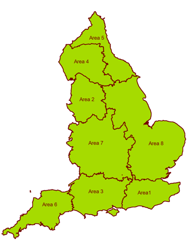 map of england area 1 south east